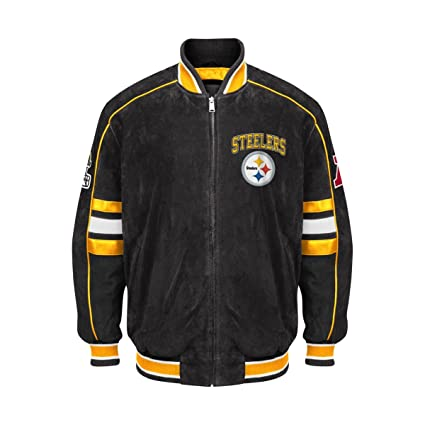 71308bd89 Pittsburgh Steelers Suede Jacket Leather NFL Steelers Coat Apparel asst  sizes (S)