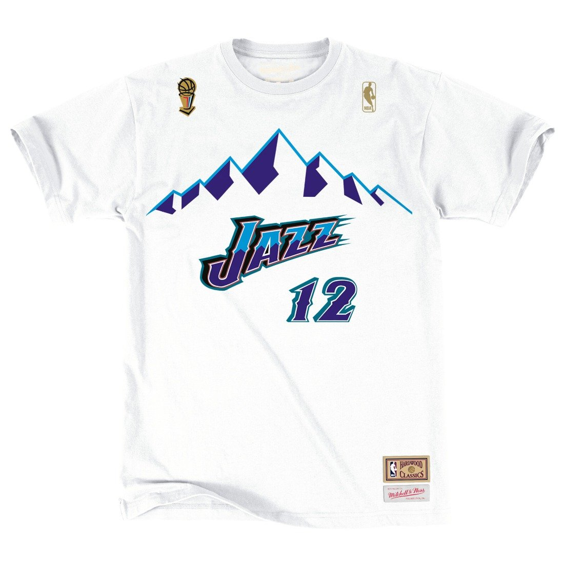 Utah Jazz John Stockton Mitchell & Ness HWC Retro Name And Number Tee