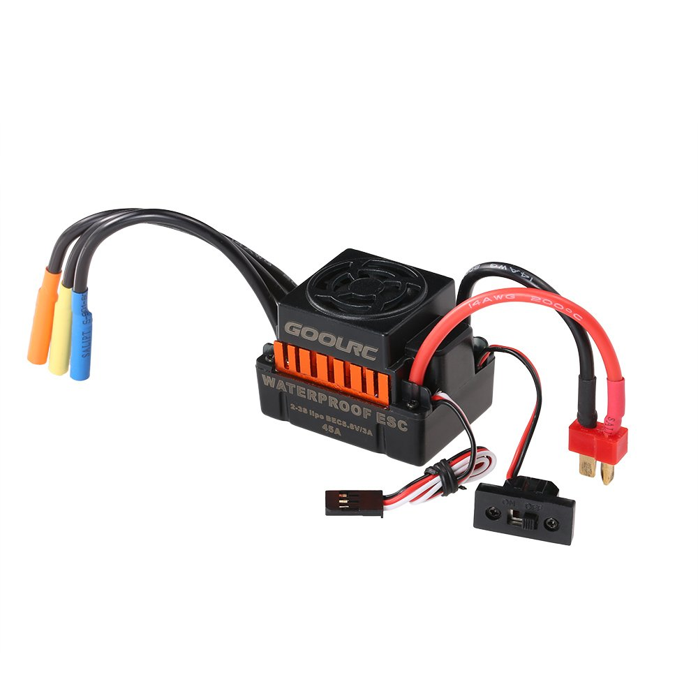 Goolrc Waterproof 45a Brushless Esc Electric Speed Diy Electronic Controller Homemade For Rc With 58v 3a Bec 1 10 Car Toys Games
