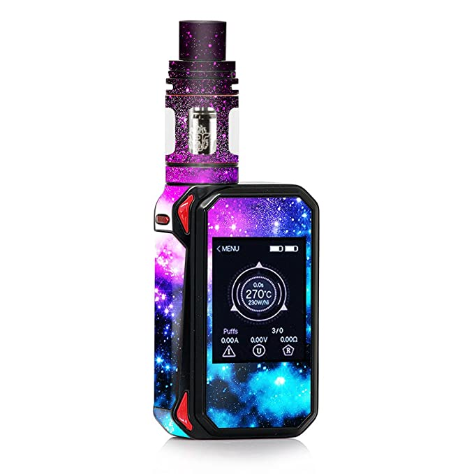 Review Skin Decal Vinyl Wrap for Smok G-Priv 2 230w touch screen Vape stickers skins cover/Galaxy Fluorescent