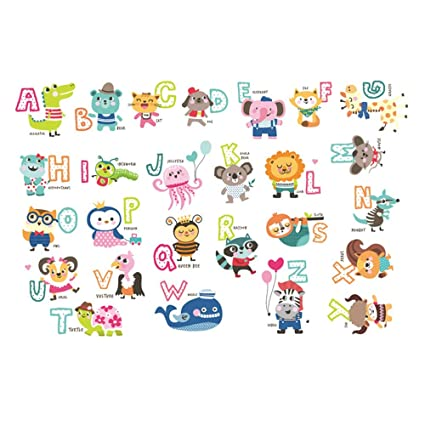 Guluded Cartoon English Alphabet Wall Sticker Wall Decal Home Decor Wall Poster Paper Murals Decal Removable