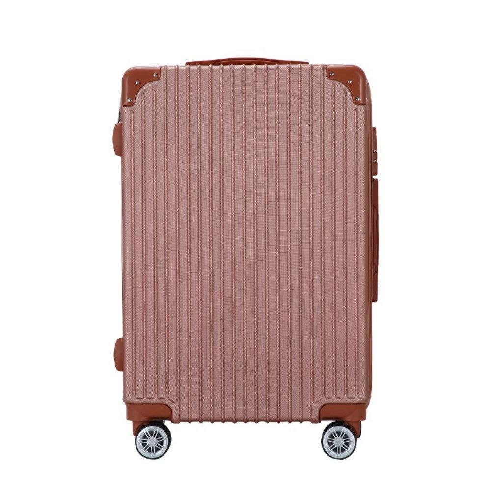 学生トロリーボックス24インチ男性と女性垂直ジッパー荷物20インチユニバーサルホイールビジネス搭乗 (Color : ローズゴールド, Size : 24 inch)   B07RJC56MC
