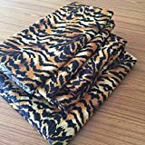 Addy Home Pillowcase 2pc Set Egyptian Cotton of Pillow Cases, Silky Soft & Wrinkle Free- Animal Print (Standard, Tiger)