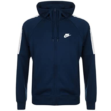 7452d0020dfc Navy Mens Nike Tribute Varsity Zip Hoodie Navy - Small  Amazon.co.uk   Clothing