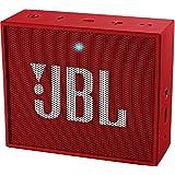 JBL GO Diffusore Bluetooth Portatile, Ricaricabile, Ingresso Aux-In, Vivavoce, Compatibilità Smartphone/Tablet e Dispositivi MP3, Rosso