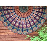 HANDICRAFTOFPINKCITY Indian Tapestry Mandala Round Roundie Hippie Beach Throw Boho Yoga Mat ...