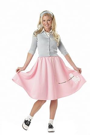Amazon california costumes womens poodle skirt costume clothing california costumes wo pink poodle skirt x small solutioingenieria Images