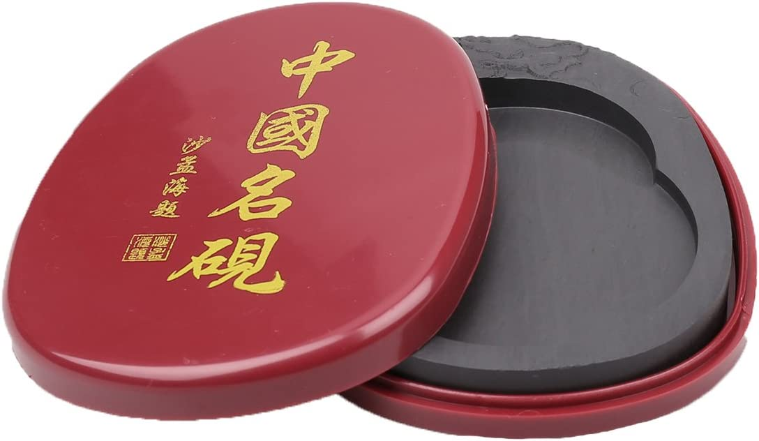 Calligraphy Ink Stone with Cover of Chinese Calligraphy Natural Inkstone (Chines Inkstone)