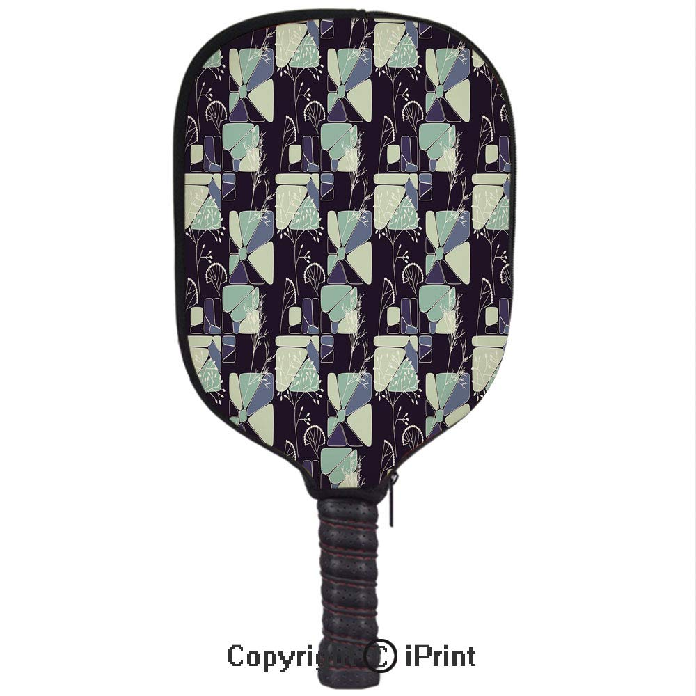 Amazon.com : Premium neoprene material, soft, thick enough Protector Pickleball Paddle Cover, Geometric Soft Shapes with Flower Silhouettes Spring Summer ...