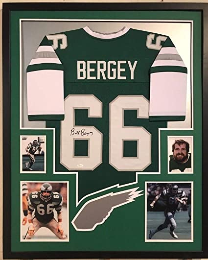 890732ba2 Image Unavailable. Image not available for. Color  Framed Bill Bergey  Autographed Signed Philadelphia Eagles Jersey ...