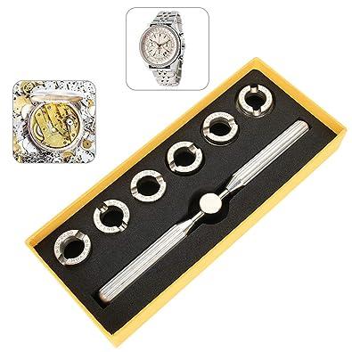 TMISHION Vuelva atrás abridor de la Cubierta de la Caja Reloj Abierto para Abrir Relojes Accesorios Kits y Herramientas de reparación: Amazon.es: Joyería