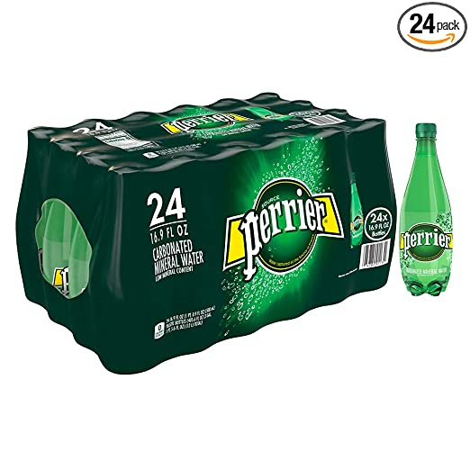 Perrier Carbonated Mineral Water, 16.9 fl oz. Plastic Bottles (24 Count)