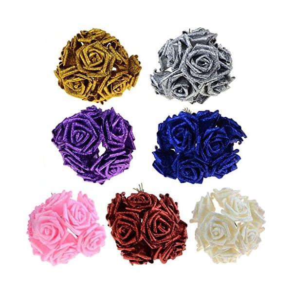 SUIE-10Pcs-Artificial-Fake-Foam-Rose-Flowers-Bridal-Wedding-Bouquet-Decoration-Bunch-Decor