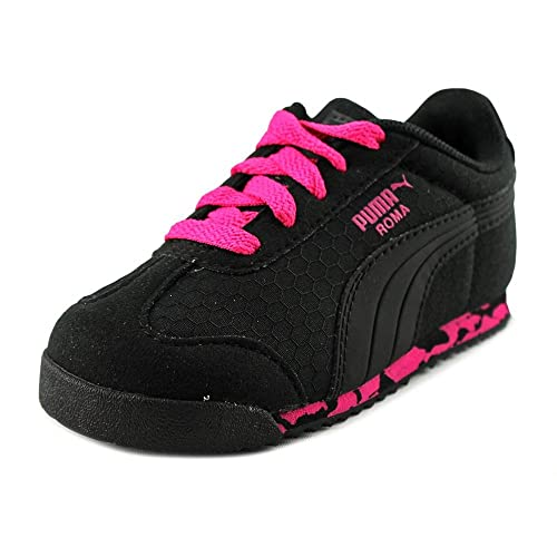 PUMA Roma MS Print Black-Pink Glo-Dark Shadow (Toddler) (8