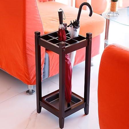 Hotel Home Umbrella Stand Creative Lobby Solid Wood Storage Rack