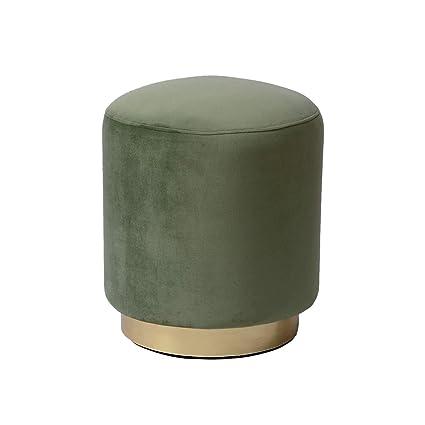 Magnificent Amazon Com Dutch Homes Velvet Ottoman Pouf Indoor 161618 Pabps2019 Chair Design Images Pabps2019Com