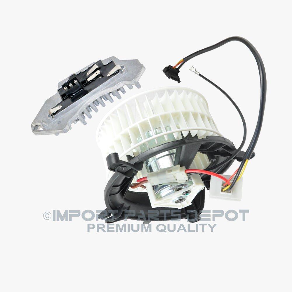 AC Heater Blower Motor + Regulator Resistor for Mercedes-Benz E300 E320 E420 E430 E55 AMG Premium Quality 2108206842 / 2108214651 New by KOOLMAN