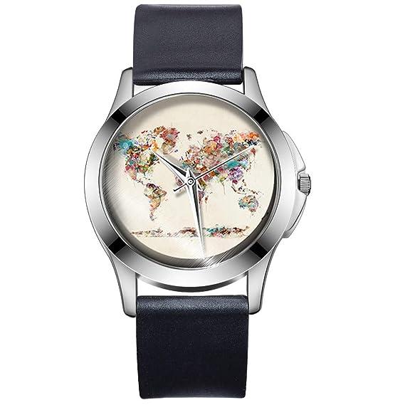 luzoeo Niños Reloj Silicona Reloj de Pulsera Infantil analógico Relojes para niño niña Mapa del Mundo Dibujos Animados Reloj de Pulsera: Amazon.es: Relojes