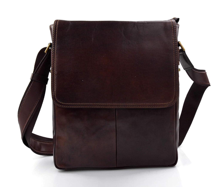 Sacoche de tablet sac cuir d'èpaule xxl sac postier sac en cuir homme ipad femme bandoulière messenger bandoulière en cuir marron fonce
