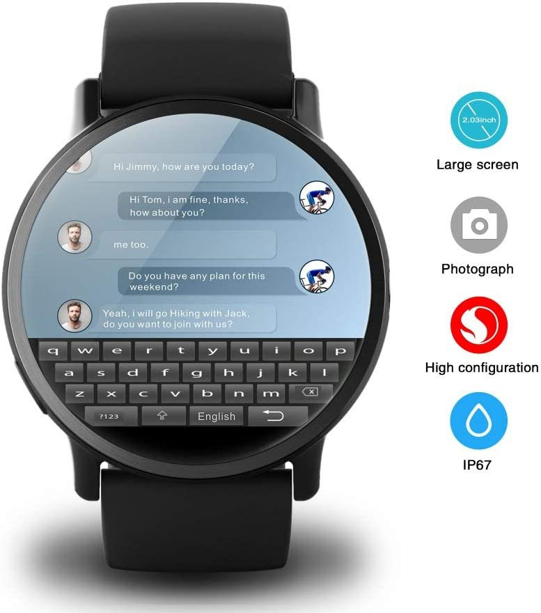 Amazon.com : WTGJZN LEM X 4G Smart Watch Android 7.1 with ...