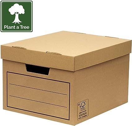 Bankers Box 00154, Caja de almacenamiento, marrón, pack de 10 ...
