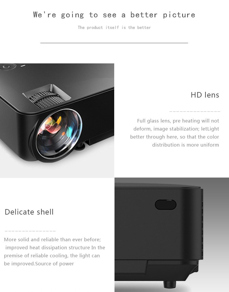 Andorid Wifi Bluetooth Projector ( Warranty Included ),SINOSAL SINO-20B Portable 1500 Lumens Mini LED Projector with BT WIFI RJ45 USB SD AV HDMI for 1080P Home Cinema Theater Video Games Movie (Black) by SINOSAL