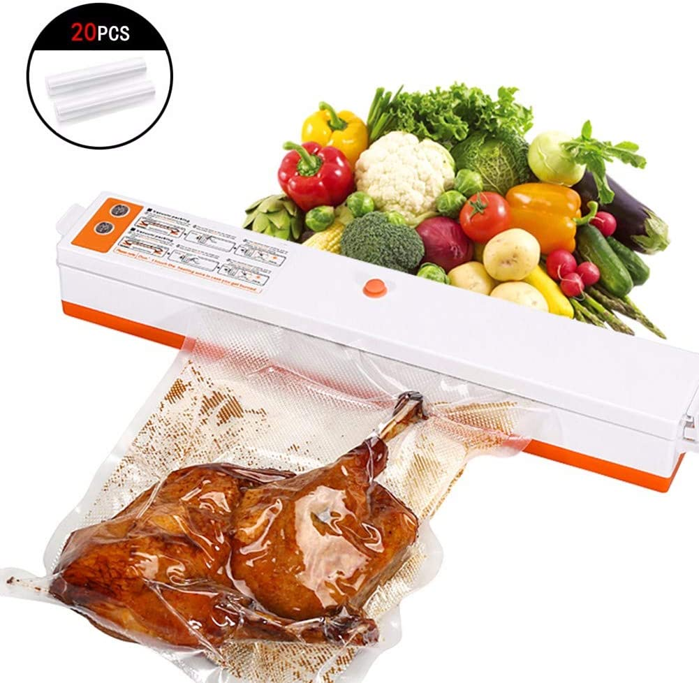 JJGS Vacuum Sealer Machine - Automatic Food Saver Machine|Compact Food Sealer Vacuum for Food Preservation|Dry Moist Food Modes|Easy to Clean|Compact Design