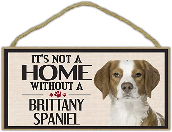 Brittany Spaniel Dog Metal Personalised Hanging Sign