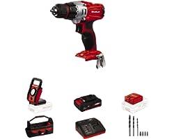 Einhell TE-CD Power X-Change 18-Volt Cordless 1250-RPM MAX 2-Speed 20+1-Torque Setting Workshop Drill/Driver Kit, w/Tool Bag,