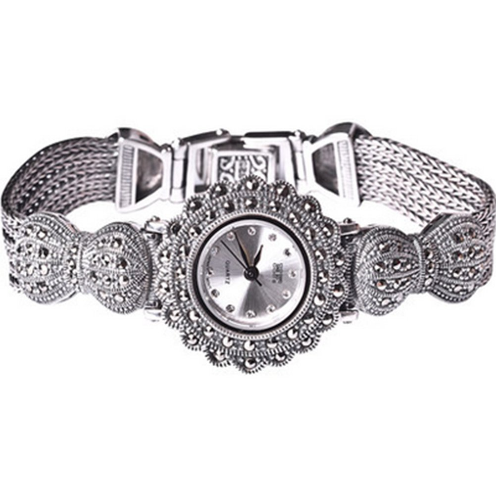 Amazon.com: New Vintage Style Thai Sterling Silver Marcasite Bracelet Jewelry Ladies Womens Watch: Watches