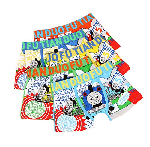 (2-8 Years Old Boys Colorful Pattern Boxer Briefs Character Underwear )