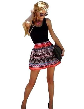 Declare Summer Sleeveless A Line High Waist Mini Sundress Dress Plus