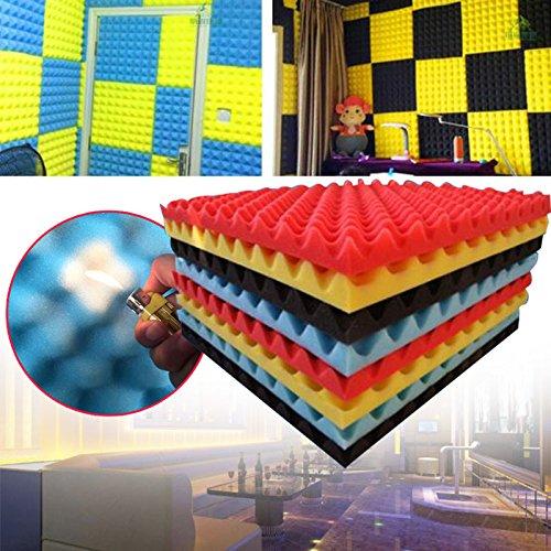 Paneles de espuma acústica WLGREATSP 20'X 20' X 1.2'Espuma de estudio de insonorización - Calidad superior - Ideal para...