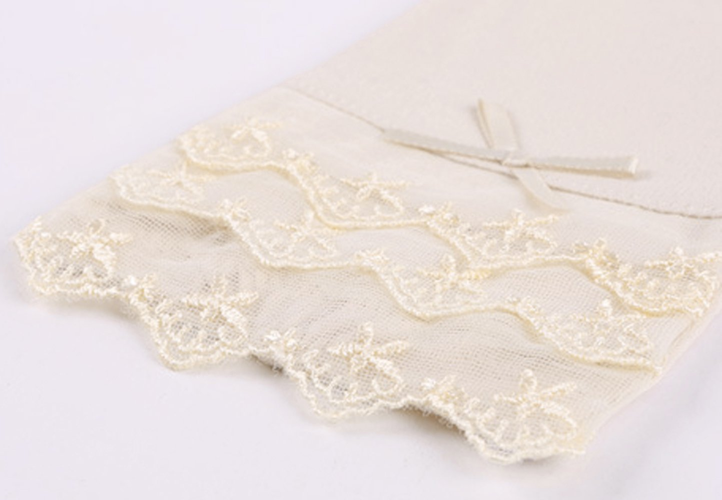 Women's Lace Bowknot Fingerless Gloves Perfect for Driving/Party/Evening with Gift Box by LAI MENG FIVE CATS (Image #6)