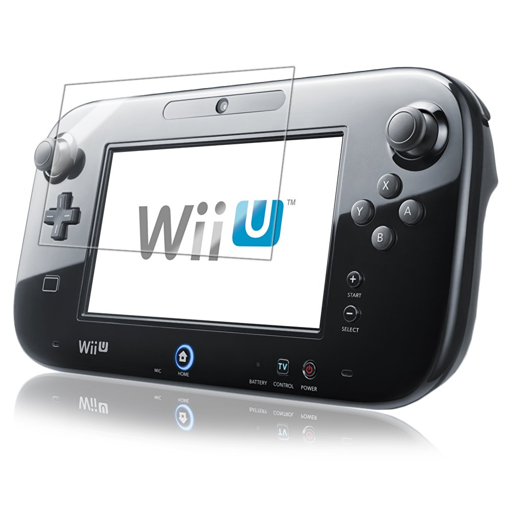 Nintendo Wii-U GamePad Screen Protector, IQ Shield® LiQuidSkin (2-Pack) Full Coverage Screen Protector for Nintendo Wii-U GamePad HD Clear Anti-Bubble Film - with Lifetime Warranty by IQShield