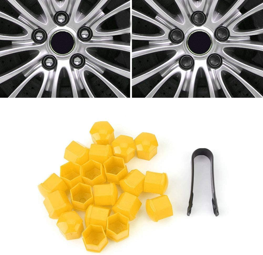 Green Aramox Wheel Nut Caps 20Pcs Car Wheel Nut Caps Screw Cover 19mm Bolt Rims Exterior Decoration Dust Proof