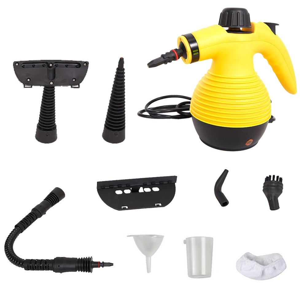 Dporticus Handheld Steam Cleaner Multipurpose Device with 9-Piece Accessories for Stubborn Stains Removal in Garment,Bathroom, Kitchen, Floor& Much More