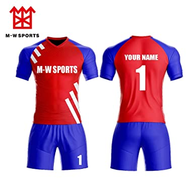 a33cdc2be05 red Blue Custom Soccer Jerseys for National Teams - Personalized Team  Uniforms   Outfits (