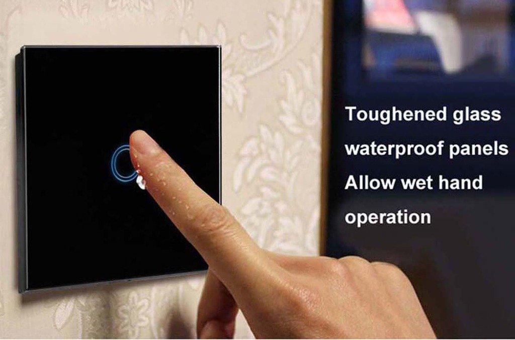 Techkoo 1-Weg Lichtschalter mit Fernbedienung wasserabweisende Touch ...