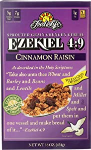 Food For Life (NOT A CASE) Ezekiel 4:9 Sprouted Grain Cereal Cinnamon Raisin