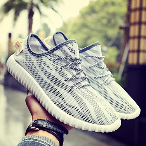 Zapatillas de deporte de moda de moda para hombre Zapatos de deporte de verano con respaldo transpirable White