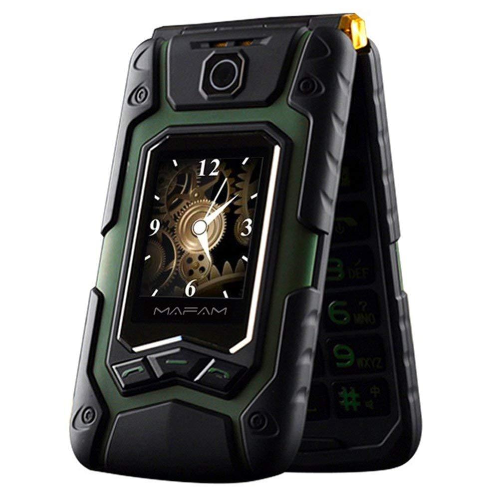 Wasserdichtes Elder Man Cellphone FM-Radio Dual-SIM-GSM-Standby-Box für große Lautsprecher - Grün