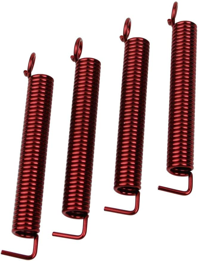 Set of 4 Red Replacement for Fender Strat ST Stratocaster Floyd Rose Style Precision Instruments Guyker Guitar Noiseless Tremolo Bridge Springs