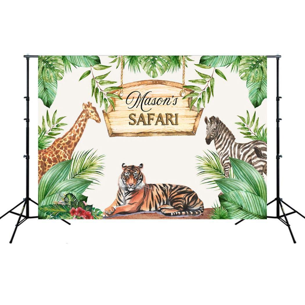 ICCUN Children Portable Animal Print Photography Backdrop Birthday Party Background Presentation Pointers by ICCUN