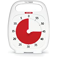 Time Timer PLUS 60 Minute Visual Analog Timer; Optional Alert (Volume-Control Dial); Silent Operation (No Ticking); 5.5…