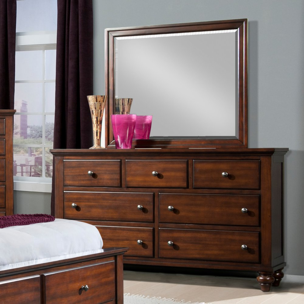Amazon com picket house furnishings elements channing dresser with mirror in cherry kitchen dining