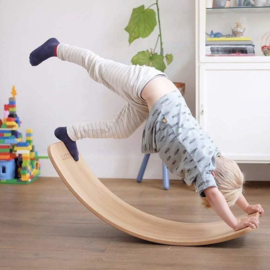 Amazon.com : Children Nordic Wood Curved Plate, Balance Beam ...