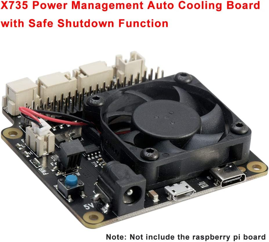 3B Expansion Board,Auto Cooling Power Management Safe Shutdown Expansion Board Compatible with Raspberry Pi 4B 3B