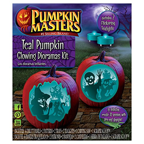 Pumpkin Masters Halloween Pumpkin Teal Decorating Dioramas