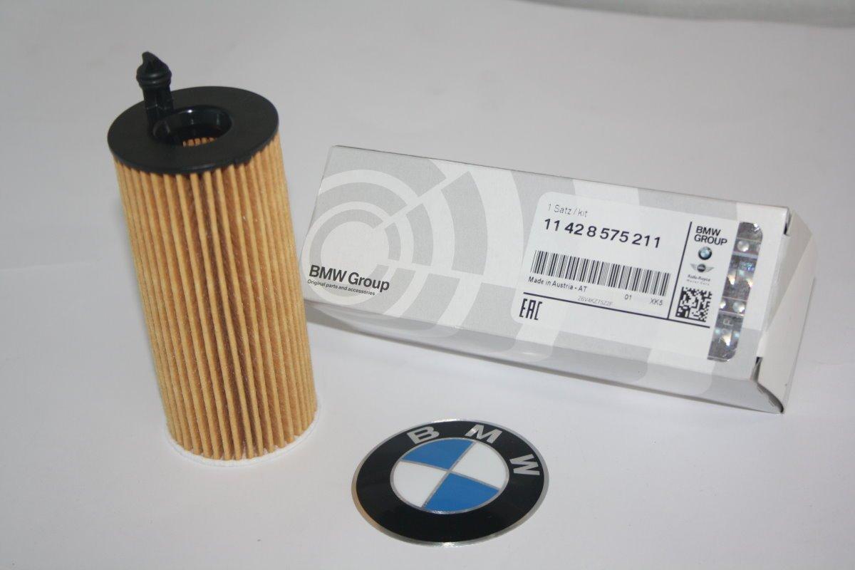 X3 X4 X5 11428575211 F20 F21 F22 F23 F30 F31 F34 F33 F32 G11 F26 6 4 7 2 Set da 1 3 5 BMW Set Originale per Filtro dellolio
